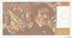 100 Francs DELACROIX modifié FRANCE  1980 F.69.04 SPL