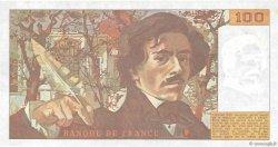 100 Francs DELACROIX modifié FRANCE  1989 F.69.13b TTB+