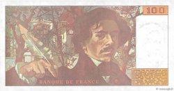 100 Francs DELACROIX imprimé en continu FRANCE  1990 F.69bis.01b2 SPL