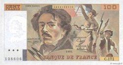 100 Francs DELACROIX imprimé en continu FRANCE  1991 F.69bis.03a2 pr.NEUF