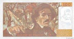 100 Francs DELACROIX imprimé en continu FRANCE  1991 F.69bis.03b2 TTB+