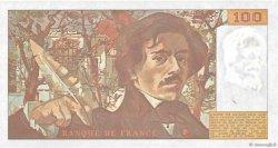 100 Francs DELACROIX imprimé en continu FRANCE  1991 F.69bis.03b2 SUP