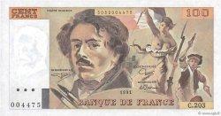 100 Francs DELACROIX imprimé en continu FRANCE  1991 F.69bis.03c2 NEUF