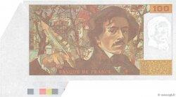 100 Francs DELACROIX imprimé en continu FRANCE  1991 F.69bis.04a SPL
