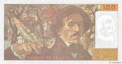 100 Francs DELACROIX imprimé en continu FRANCE  1991 F.69bis.04c SPL