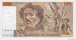 100 Francs DELACROIX 442-1 & 442-2 FRANCE  1995 F.69ter.02c SPL