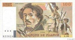 100 Francs DELACROIX modifié UNIFACE FRANCE  1984 F.69U.02 pr.SUP
