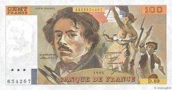 100 Francs DELACROIX modifié UNIFACE FRANCE  1984 F.69U.02 SPL