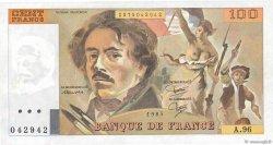 100 Francs DELACROIX modifié UNIFACE FRANCE  1995 F.69U.03 pr.SPL