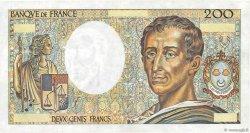 200 Francs MONTESQUIEU FRANCE  1981 F.70.00 SUP+