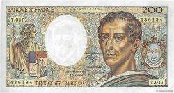200 Francs MONTESQUIEU FRANCE  1987 F.70.07 SUP+