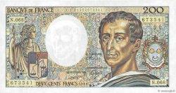200 Francs MONTESQUIEU FRANCE  1989 F.70.09 SUP+