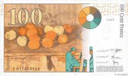 100 Francs CÉZANNE sans STRAP FRANCE  1997 F.74bis.01 SPL+