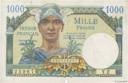 1000 Francs TRÉSOR FRANÇAIS FRANCE  1947 VF.33.01 SUP