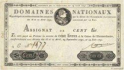 100 Livres FRANCE  1791 Ass.15a