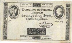 25 Livres FRANCE  1792 Ass.37a TTB