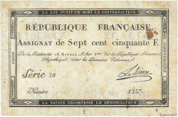 750 Francs FRANCE  1795 Ass.49a TB+