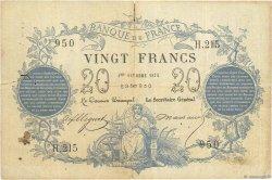 20 Francs type 1871 FRANCE  1871 F.A46.02 B+