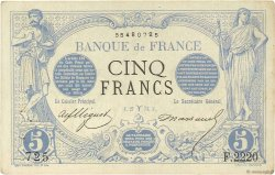 5 Francs NOIR FRANCE  1873 F.01.16 SUP