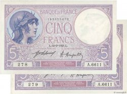 5 Francs VIOLET FRANCE  1921 F.03.05 SPL+