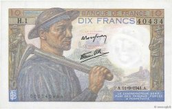10 Francs MINEUR FRANCE  1941 F.08.01 SPL+