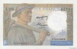 10 Francs MINEUR FRANCE  1949 F.08.22a pr.SPL