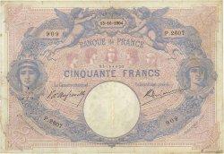 50 Francs BLEU ET ROSE FRANCE  1904 F.14.16 TB