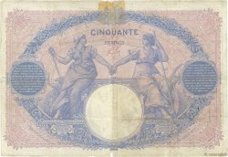 50 Francs BLEU ET ROSE FRANCE  1908 F.14.21 pr.TB