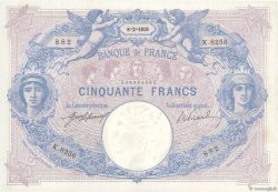 50 Francs BLEU ET ROSE  FRANCE  1919 F.14.32 SUP