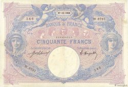50 Francs BLEU ET ROSE FRANCE  1920 F.14.33 pr.TTB