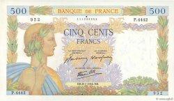 500 Francs LA PAIX FRANCE  1942 F.32.27 SUP+