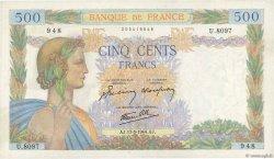 500 Francs LA PAIX FRANCE  1944 F.32.47 TTB à SUP