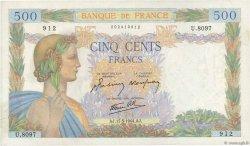 500 Francs LA PAIX FRANCE  1944 F.32.47 SUP