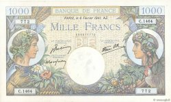 1000 Francs COMMERCE ET INDUSTRIE FRANCE  1941 F.39.04 XF-