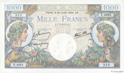1000 Francs COMMERCE ET INDUSTRIE FRANCE  1944 F.39.12 UNC-