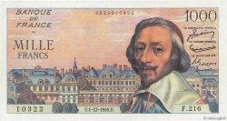 1000 Francs RICHELIEU FRANCE  1955 F.42.17 SUP+