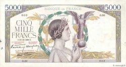 5000 Francs VICTOIRE modifié FRANCE  1938 F.45.01 SUP