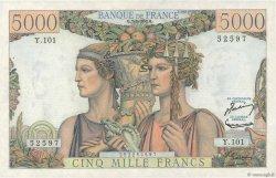 5000 Francs TERRE ET MER FRANCE  1952 F.48.06 SUP+