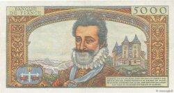 5000 Francs HENRI IV FRANCE  1957 F.49.02 pr.SUP