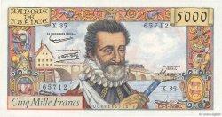 5000 Francs HENRI IV FRANCE  1958 F.49.05 SUP+