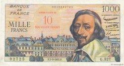 10 NF sur 1000 Francs RICHELIEU FRANCE  1957 F.53.01 TB à TTB