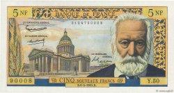 5 Nouveaux Francs VICTOR HUGO FRANCE  1961 F.56.07 SPL