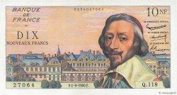 10 Nouveaux Francs RICHELIEU FRANCE  1960 F.57.10 SPL