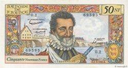 50 Nouveaux Francs HENRI IV FRANCE  1959 F.58.01 pr.NEUF