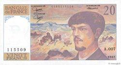 20 Francs DEBUSSY FRANCE  1981 F.66.02-A7 pr.NEUF