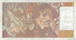 100 Francs DELACROIX imprimé en continu FRANCE  1990 F.69bis.01b5 TB+