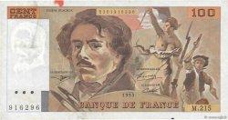 100 Francs DELACROIX imprimé en continu FRANCE  1993 F.69bis.06b TTB