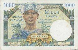 1000 Francs TRÉSOR FRANÇAIS FRANCE  1947 VF.33.01 SPL