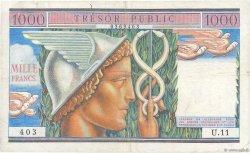 1000 Francs TRÉSOR PUBLIC FRANCE  1955 VF.35.01 TTB