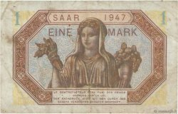 1 Mark SARRE  FRANCE  1947 VF.44.01 TTB